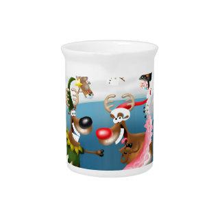 Reindeer winter wonderland pitcher