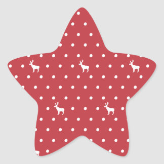Reindeer with dots Star Stickers
