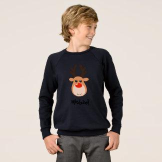 Reindeer with name Boy's Sweatshirt