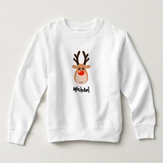 Reindeer with name Toddler Sweatshirts