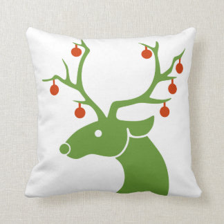 Reindeer with Ornaments Pillow