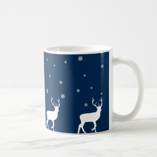 Reindeer's and snowflakes, Christmas night Coffee Mug