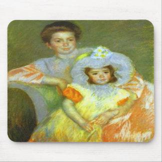 Reine Lefevre and Margot c 1902 Mary Cassatt Mouse Pad