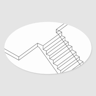 Reinforced Cement Concrete stair Oval Sticker