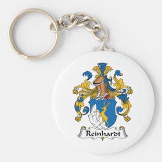Reinhardt Family Crest Basic Round Button Key Ring