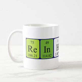 Reinhardt periodic table name mug