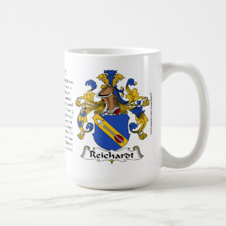 Reinhardt, the Origin, the Meaning and the Crest Basic White Mug