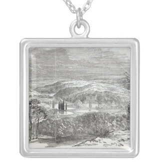 Reinhardtsbrunn, Gotha, engraved by W.J. Silver Plated Necklace