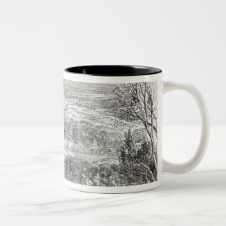 Reinhardtsbrunn, Gotha, engraved by W.J. Two-Tone Coffee Mug