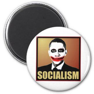 Reject Socialism 6 Cm Round Magnet