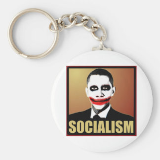Reject Socialism Basic Round Button Key Ring