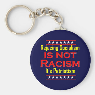 Rejecting Socialism, Basic Round Button Key Ring
