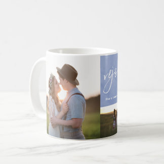Rejoice and Be Glad Blue Watercolor Photo Collage Coffee Mug