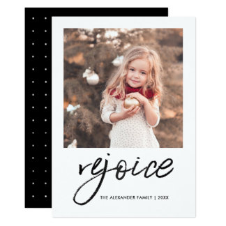 Rejoice and Be Glad Christmas Photo Card