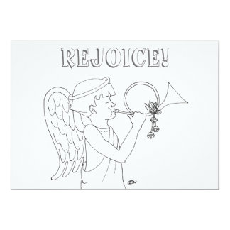 Rejoice Angel Coloring Book Postcard