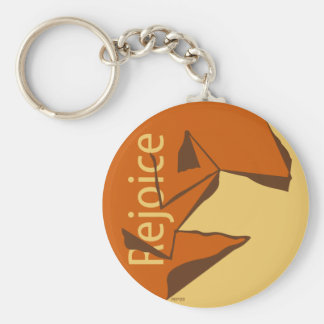 Rejoice Basic Round Button Key Ring