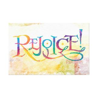 Rejoice Card Canvas Print