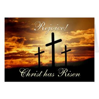 Rejoice! Christ has Risen, Easter Cross Card