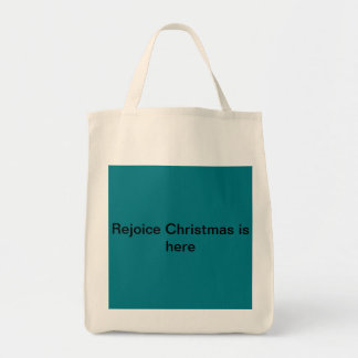 Rejoice Christmas is here grocery tote