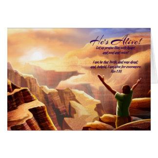 Rejoice. Customizable Easter Card
