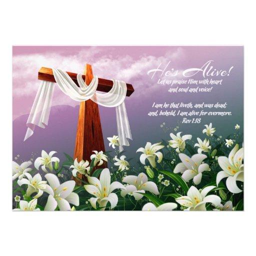 Rejoice. Customizable Easter Cards