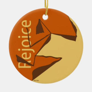 Rejoice Double-Sided Ceramic Round Christmas Ornament