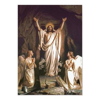 "Rejoice. Fine Art Customizable Easter Card 5"" X 7"" Invitation Card"
