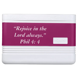 """Rejoice"" Igloo Scripture 12 Can Cooler Igloo Cooler"
