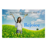 Rejoice in the Lord always Worship Praise Poster