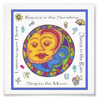 Rejoice in the Sunshine Art Poster 6x6 Photo Print
