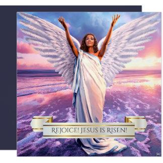 Rejoice! Jesus is Risen. Religious Easter Cards 13 Cm X 13 Cm Square Invitation Card