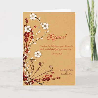 Rejoice OrientalStyle Wedding Invitation Greeting Card by 238Designs
