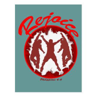 Rejoice - Philippians 4.4 Postcard