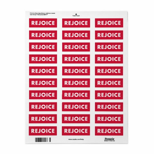 REJOICE Red Holiday Religious Christmas Sticker