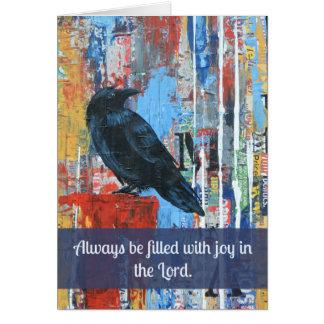 Rejoicing Raven Greeting Card