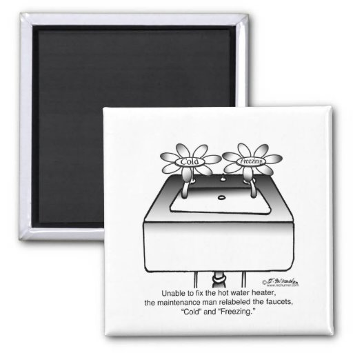 Relabel Faucets Cold & Freezing Fridge Magnet