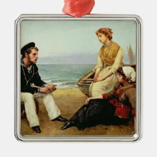 Relating his Adventures, 1881 Christmas Ornament