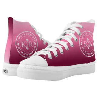 Relationship of Equals Monogram Rose Pink Ombre High Tops