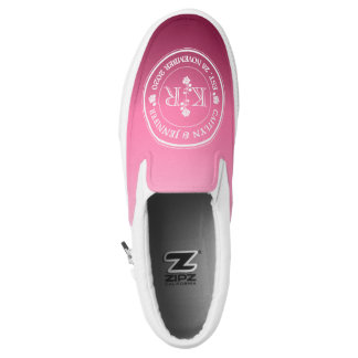 Relationship of Equals Monogram Rose Pink Ombre Slip-On Shoes