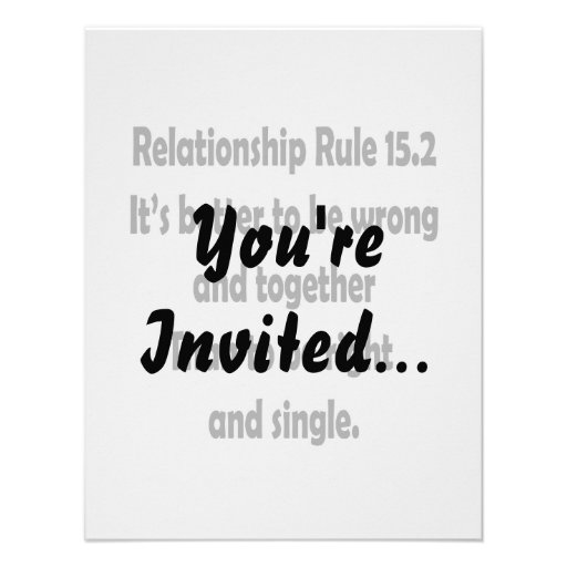 relationship rule 15.2 better to be wrong personalized announcement