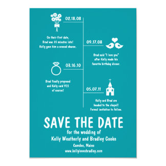 Relationship Timeline Save the Date Card