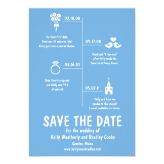 Relationship Timeline Save the Date Invite