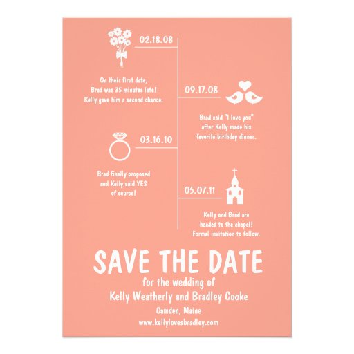 Relationship Timeline Save the Date Announcement