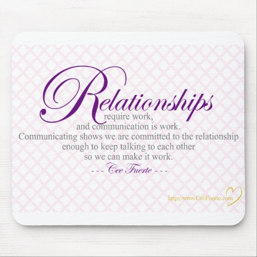 Relationships And Communication Mousepads