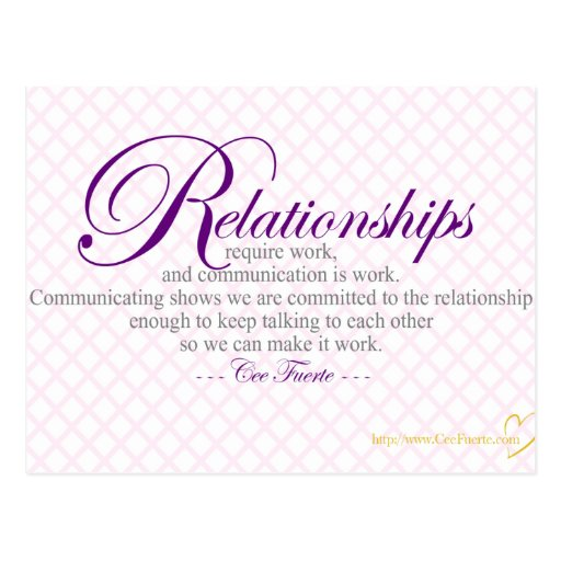 Relationships And Communication Postcards
