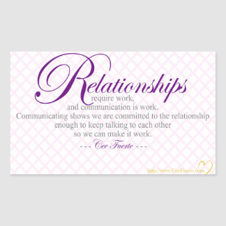 Relationships And Communication Rectangular Sticker