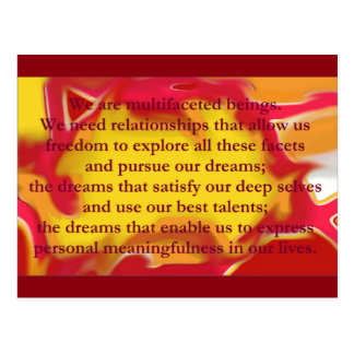 Relationships that Allow Quote Postcard