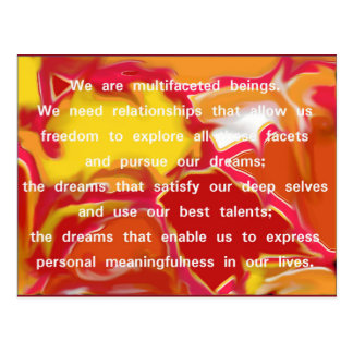 Relationships that Allow Quote Postcard 2