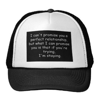 Relationships trying commitment love dedication trucker hat