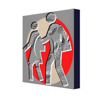 Relationships:  Walk n Grow Together Canvas Prints